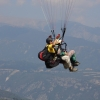 paragliding tandem flight with Olympic Wings at Mount Olympus