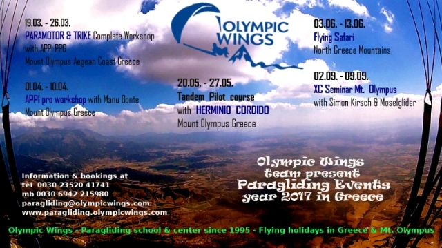 Special Events - Paragliding Greece 2017 with Olympic Wings