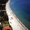 paragliding beach landing - Neos Panteleimonas