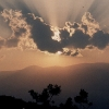 Mount Olympus sunset with clouds