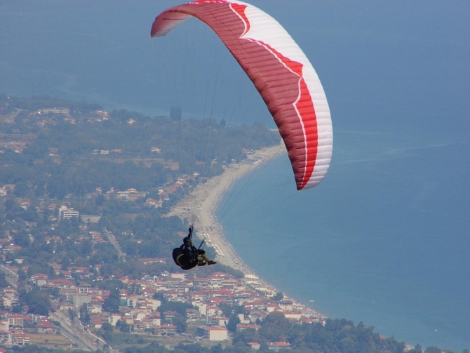 Paragliding at Little Church - Panteleimonas Mount Olympus
