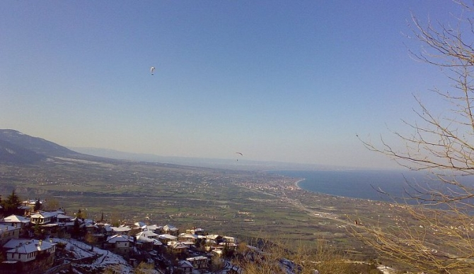 Paragliding at Little Church, Mount Olympus - March 2011