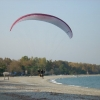 Paramotor Paragliding at the beach of Panteleimonas - Mount Olympus