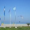 Paramotor Paragliding at the beach of Platamonas - Mount Olympus