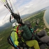Jackie training as a Tandem pilot paragliding Course with Olympic Wings