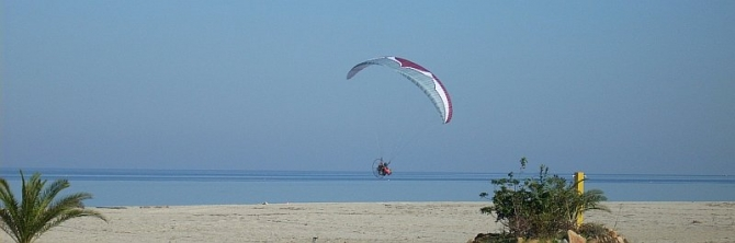 paramotor beach of Platamonas