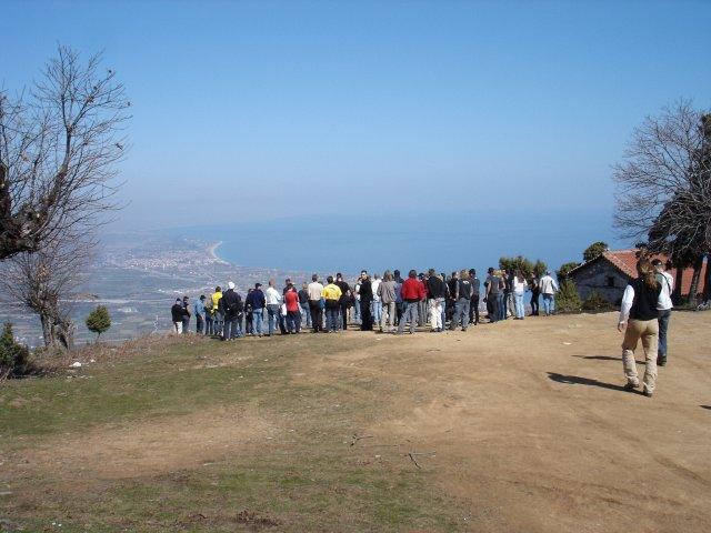 group at take-off little church - Panteleimonas