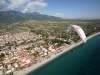 paragliding on top of Olympic Riviera